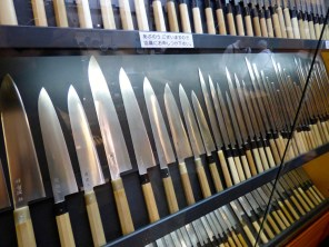 Knives in the markets.