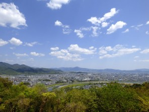 View back to Kyoto.