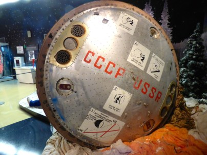 Soyuz landing capsule with instructions if found.