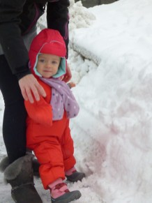 Julia meets snow.