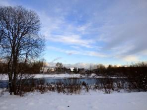Snowy vista.