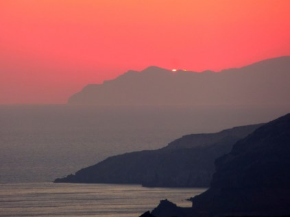 Santorini sunset.