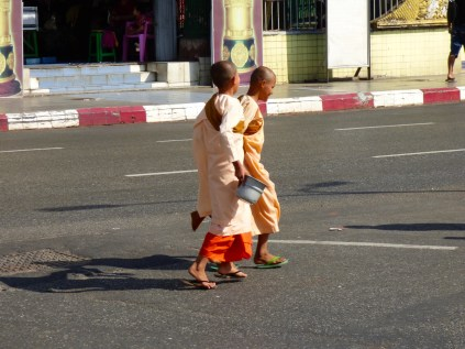 Nuns out looking for alms.