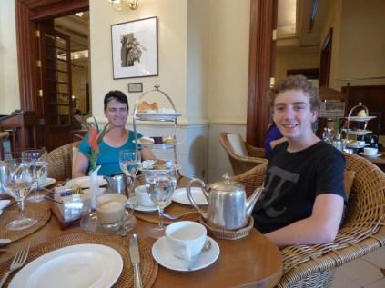 High tea at the Strand Hotel.