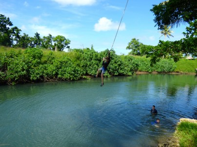 Tarzan swing.