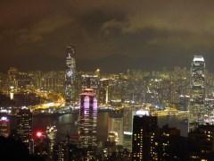 Lights of Hong Kong.
