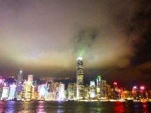 Lasers and the Hong Kong light show.