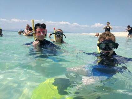 Snorkelling on Bounty Island.