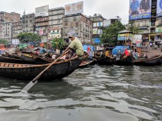 Dhaka river boats.