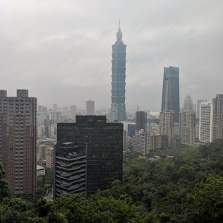Taipei 101 from Monkey Mountain.
