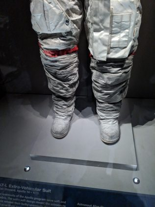 Space suit with Moon-dust.