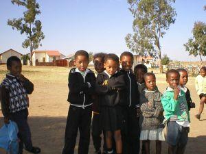 Kids Near Nelson Mandela's Home