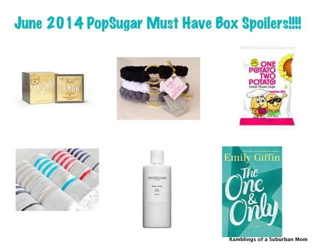 June 2014 PopSugar Must Have Box Spoilers