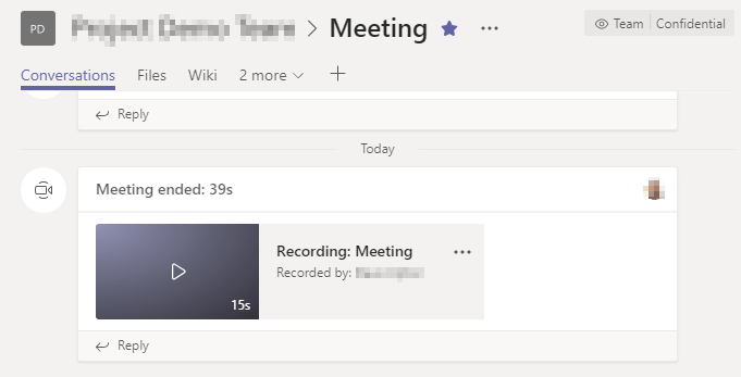 How to delete a teams meeting recording