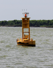 A quarantine buoy in Charleston Harbor