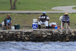 Local residents enjoy Palatka's waterfront.