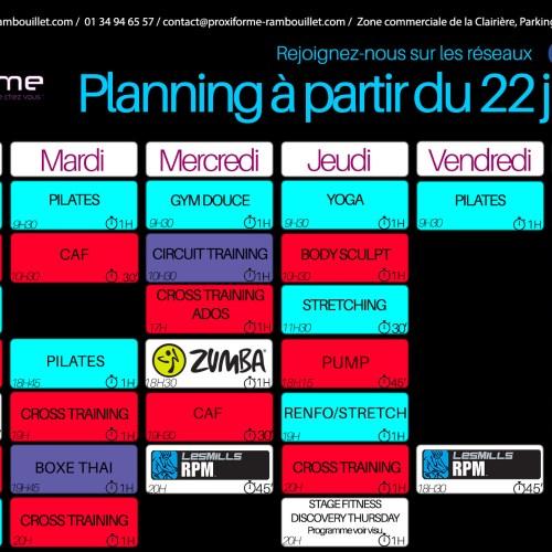 Nouveau Planning !