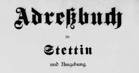 Adressbuch für Stettin und Umgebung