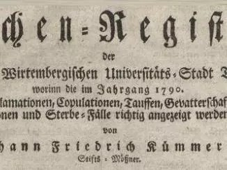 Kirchenregister Tuebingen