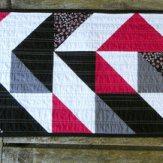 Angle Tangle Modern Quilt Table Runner Handmade
