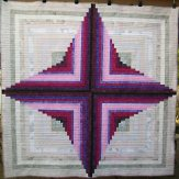 Blackberry Meringue Modern Quilt Handmade
