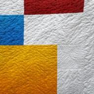 Block Modern Quilt Handmade Detail
