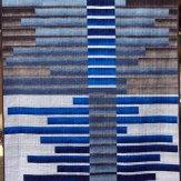 Blue Dusk Modern Quilt Handmade