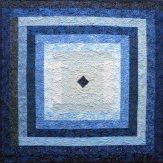 Blue Ripple Modern Quilt Handmade