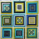 Circle Gets the Square Modern Quilt Handmade