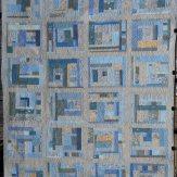 Custom Blue Gray Modern Quilt Handmade