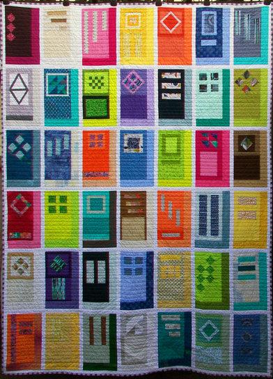 Door to Door Modern Quilt Handmade