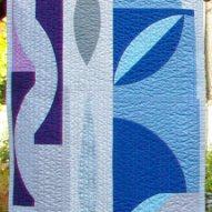 Funky Modern Quilt Handmade Table Runner Front