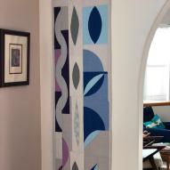 Funky Modern Quilt Handmade Table Runner in home