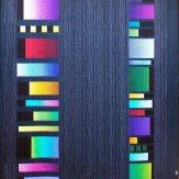 Glow Sticks back Modern Quilt Handmade