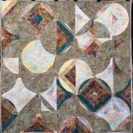Harvest Moon Modern Quilt Handmade