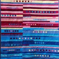 Havasu Falls Modern Quilt Handmade Front