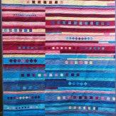 Havasu Falls Modern Quilt Handmade