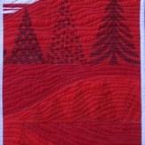 Holiday Hills Modern Quilt Table Runner Handmade