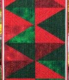 Holiday Time Modern Quilt Table Runner Handmade