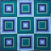 In the Shade Modern Quilt Handmade