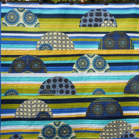 Limelight Modern Quilt Handmade