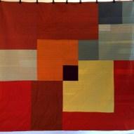 Linear Modern Quilt Handmade Back