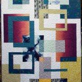 Linked Modern Quilt Handmade