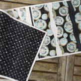 Mod Kiwi Modern Quilt Table Runner Handmade