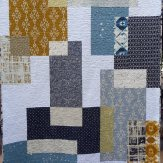 Off the Grid Modern Quilt Handmade