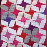 Pansy Pinwheels Modern Quilt Handmade