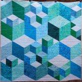 Perspective 3D Blocks Modern Quilt Handmade