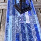 Randomly Blue Modern Quilt Table Runner Handmade