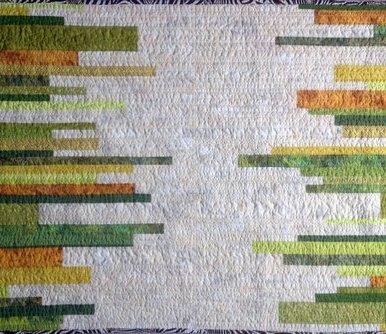 Safari Grasses Modern Quilt Handmade