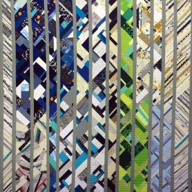 Shale Modern Quilt Handmade